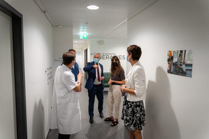 Visite de la Conseillère d'Etat vaudoise Rebecca Ruiz à la Clinique La Lignière